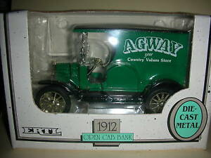 Ertl-1912-Open-Cab-Bank-AGWAY-Die-Cast