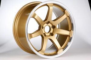DTM-Rush-Wheels-18-inch-for-Mitsubishi-EVO-7-8-9-X-Model-in-Gold-Colour