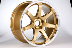 DTM-Rush-Wheels-18-inch-for-Mitsubishi-EVO-8-9-X-Model-in-Gold-Colour