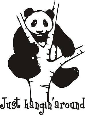 Panda Bear Vinyl Wall Lettering Decor Quote Art Decor