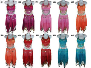 Belly-Dancing-Hip-Scarf-Skirt-Wrap-Costumes-Set-x1pcs