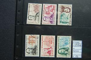FRANCOBOLLI-FRANCIA-USATI-N-1295-1300-F10066