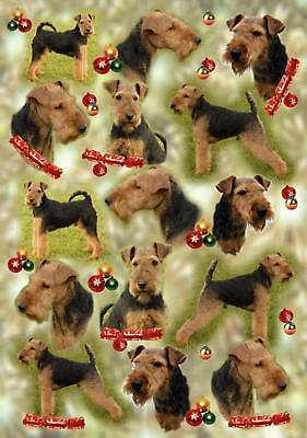 Welsh Terrier Christmas Wrapping Paper By Starprint