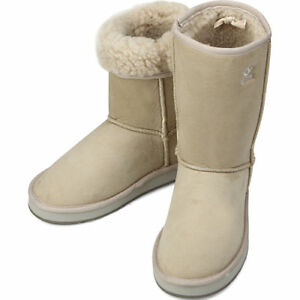 Ivory-Shearling-Womens-Winter-Snow-Warm-Boots