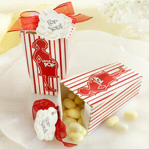 24 set about to pop popcorn box baby shower party favor