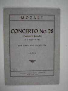 miniature-scores-MOZART-concerto-28-in-D-major-K-382