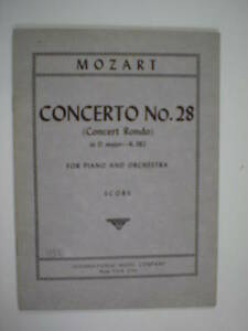 miniature-scores-MOZART-concerto-28-in-D-major-K-382