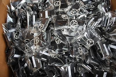 Lot Of 50 Fashion Bug Peace Sign Necklace Pendant