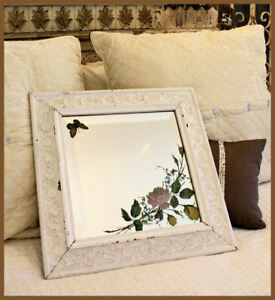 Antique-Carved-Wood-Framed-Mirror-Underglass-Etching