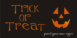 Stencil trick treat pumpkin jack face halloween primitive for Trick or treat pumpkin template