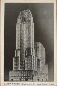 1940-Deco-Postcard-Carew-Tower-Cincinnati-Ohio-OH