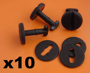 10x BMW Floor Carpet Mat Clips E36 E46 E38 E39 Series- Twist Lock with Washers
