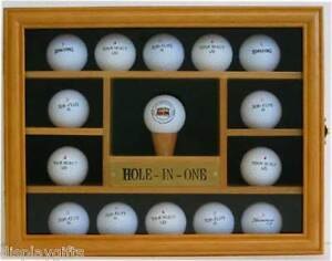 Nice Gift, 15 Golf Ball Display Case Holder Wall Cabinet, Solid ...