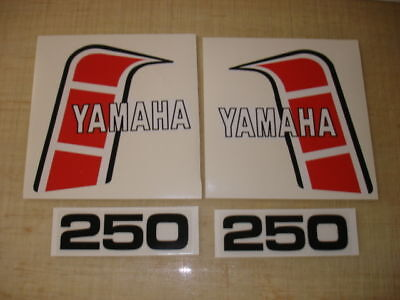 1982 Yamaha Yz250 Euro Model Tank And Side Panel Decals