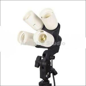 4-in-1 Studio E27 Light Lamp Socket Splitter Adapter