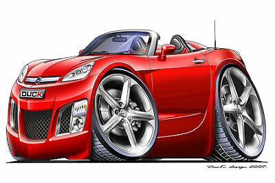 Saturn-Sky-Opel-GT-Turbo-Fire-Cartoon-Car-Graphic-Wall-Decal-Home-Decor-NEW
