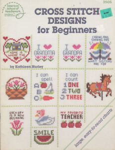 Craft Books 1877 Cross Stitch Designs for Beginners | eBay