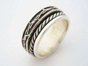 Jewish Mans Wedding Ring Spinning Band Kabbalah Silver 925