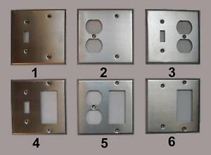 331395787526 moreover 39918877 in addition Stainless Steel Outlet Covers likewise Wallplate Switch further 270657615425. on leviton 2 gang wall plate stainless combo