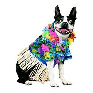 Pet Bootique Tiki Fun Dog Hawaiian Shirt Pet Costume Sz M - New