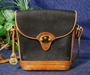 Vintage-Black-British-Tan-DOONEY-BOURKE-AWL-TACK-Bag