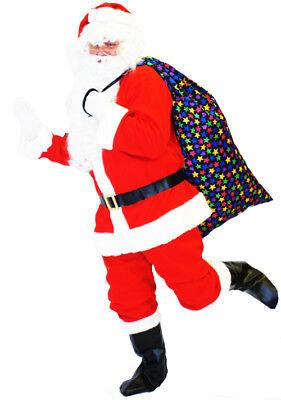 Deluxe Weihnachtsmann/Weihnachtsmann Anzug Kostüm Passend für bis zu - Deluxe Weihnachtsmann Anzug Kostüm