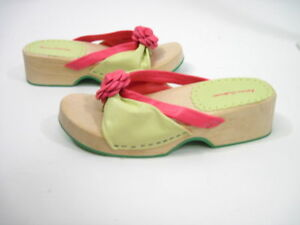 NEW-HANNA-ANDERSON-Girls-Pink-Wooden-Platforms-Shoes-31