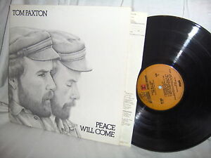TOM-PAXTON-PEACE-WILL-COME-folk-rock-vinyl-LP