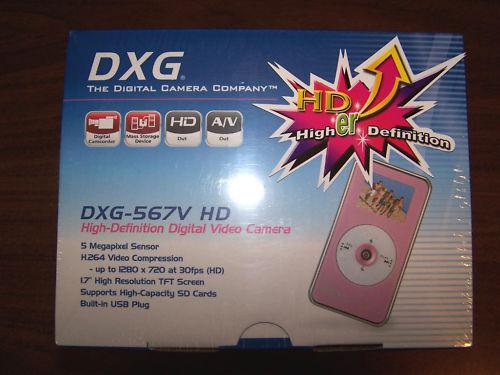 DXG-567V HD High-Definition Digital Video Camera Pink
