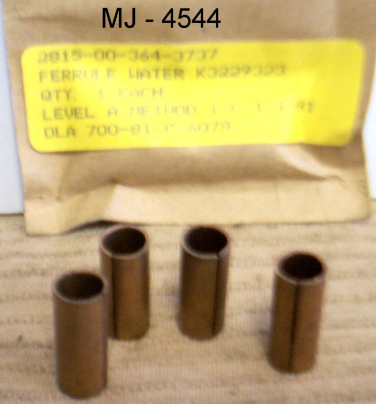 Lot of 4 - Korody-Colyer - Bronze Water Cylinder Ferrules - P/N: K3229323 (NOS)