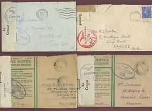 GB-WW2-1944-RAF-CENSOR-OAS-PRIVILEGE-FPO-4-DIFF-COVERS