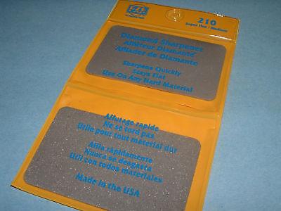 Eze Lap 210 Credit Card Super Fine 200 & Med 202 Diamond Sharpening Wallet Stone