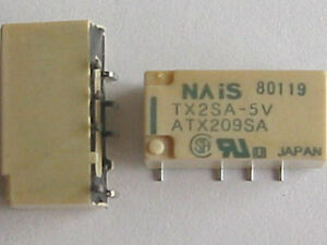 2-relais-CMS-DPDT-5V-2A-NAIS-TX2SA-5V