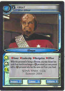 Star-Trek-CCG-2E-FOIL-0P24-Worf-First-Officer-M-NM