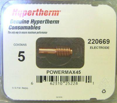 Hypertherm Genuine Powermax 45 Electrodes 5 Pack 220669