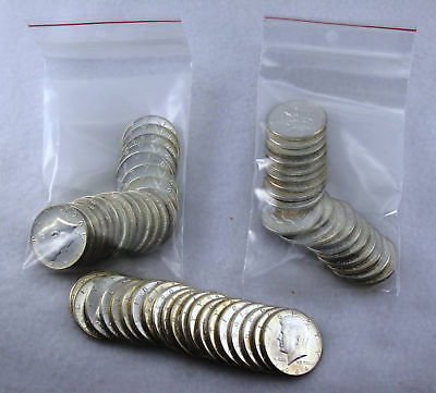 1964P KENNEDY HALF DOLLARS BU $30 FACE VALUE    90 SILVER US COINS