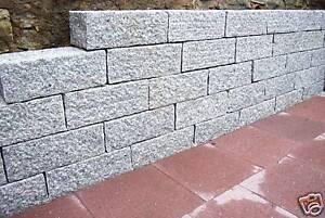 granit mauerstein 15x20x40 cm grau rundum gespitzt ebay. Black Bedroom Furniture Sets. Home Design Ideas