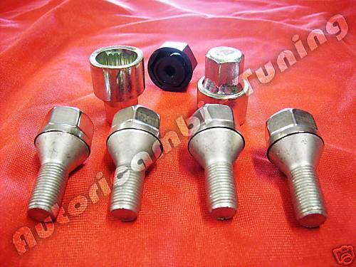 ANTI-THEFT BOLTS WHEELS FIAT MULTIPLA PUNTO AFTER 2001
