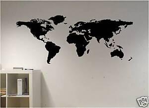 WORLD-MAP-VINYL-WALL-decal-sticker-ART-DECOR-bedroom