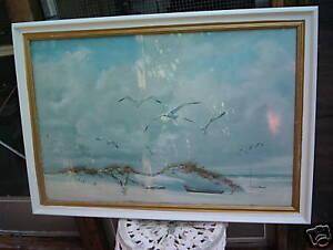 Carolyn Blish Print 1968 Seagull Boat Beach Framed | eBay