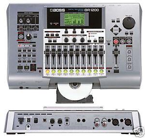 boss br 1200cd 8 12 track digital recorder recording studio usb 800 900 1600 ebay. Black Bedroom Furniture Sets. Home Design Ideas