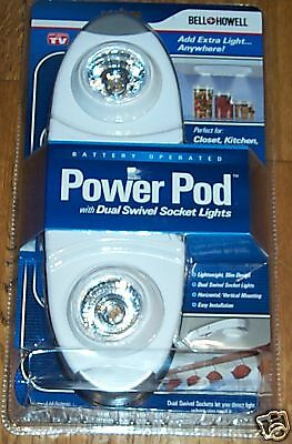 Bell & Howell Power Pod Dual Swivel Socket Lights