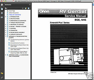 Services Manual Onan 12500 on