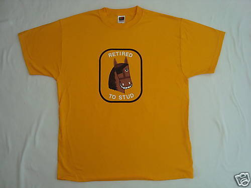 New Mens Brown Horse T shirt Gold XL Fruit of the Loom