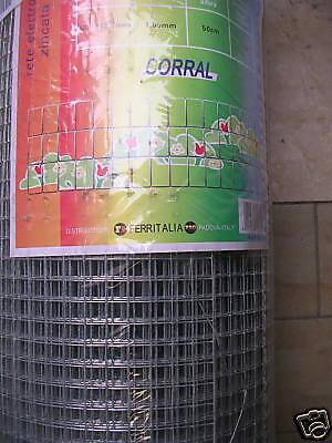 RETE ELETTROSALDATA ZINCATA 12,7X12,7 ALTA 50 CM PREZZO AL METRO ...