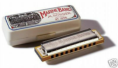 Hohner Marine Band 1896 Harmonica In G W Hohner Warranty   Free Online Lessons