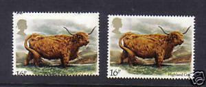 1984 Cattle. 16p. Dramatic shift error. MNH. Scarce!