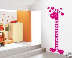 00064 wall stickers camerette bambini adesivi murali giraffa metro 69x185 cm - Adesivi murali per camerette ...