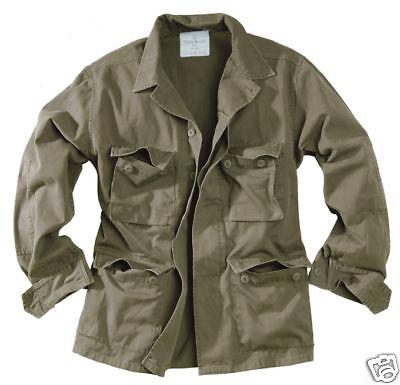 US BDU Feldjacke prewashed oliv Gr M US Army Fieldjacket Sommerjacke R/S