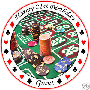 Edible casino cake toppers